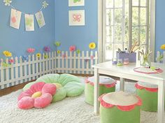 an adorable play room for a lil girl