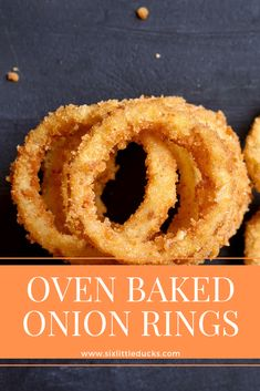 Oven Baked Onion Rings (WW-Friendly) These Oven Baked Onion Rings are a favorite in my house. At only 3 SP per serving, they are a Weight Watchers bargain! Onion Recipes, Ww Recipes, Cooking Recipes, Whole30 Recipes, Healthy Recipes, Steak Recipes, Muffin Recipes, Crockpot Recipes, Baked Onion Rings
