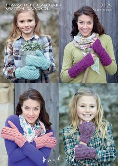 Mittens & Wrist Warmers in Hayfield Aran with Wool - Discover more Patterns by Hayfield at LoveCrafts. From knitting & crochet yarn and patterns to embroidery & cross stitch supplies!