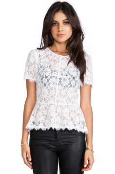 Lace and peplums, my two favorite things in one shirt!