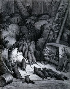 Gustave Doré~The League of the Rats~ 1867