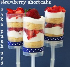 Strawberry Shortcake Push-up cakes
