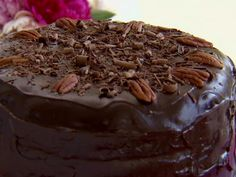 German Chocolate Cake with Coconut-Pecan Filling recipe from Paula Deen via Food Network