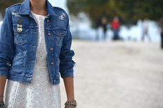 #Casual denim outfit for the summer ©TheStreetmuse