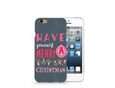 H44 Text christmas phone case for iP4/5/5C/6/6plus from Emerishop by DaWanda.com