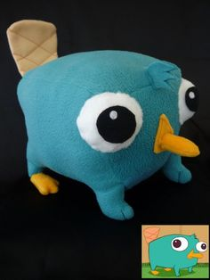 Perry the Platypus plush by ~cloudstrife597 on deviantART  link to pattern on site