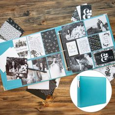 You don't need to be a crafter or artist to make a beautiful handmade scrapbook. These all-in-one kits include EVERYTHING you need to complete a stunning scrapbook album in no time at all! Paper Bag Scrapbook, Scrapbook Albums, Scrapbook Supplies, Scrapbooking Layouts, How To Make A Paper Bag, Handmade Scrapbook, Collaborative Art, Wedding Scrapbook, Scrapbook
