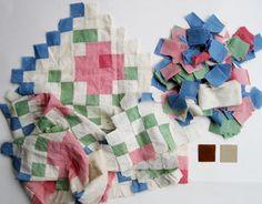 Vintage Anne Orr Mosaic Rose Quilt Kit ~ via Q is for Quilter