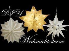 Weihnachtssterne aus Brottüten | Leuchtsterne | Papiersterne basteln - YouTube