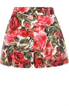 Женские розовые мини-шорты с ярким цветочным принтом DOLCE & GABBANA — купить за 32100 руб. в интернет-магазине ЦУМ, арт. 0102/FTAMYT/FS54B