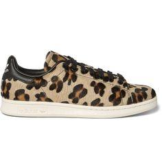 promo code 7d61d 0eb74 ADIDAS ORIGINALS Stan Smith Leopard-Print Pony Hair Sneakers.   adidasoriginals  shoes  sneakers