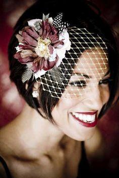68 Ideas For Wedding Veils Short Birdcage Hair Pieces Latest Hairstyles, Bob Hairstyles, Wedding Hairstyles, Short Hair Cuts, Short Hair Styles, Short Bridal Hair, Short Wedding Veils, Wedding Hats, Hair Wedding