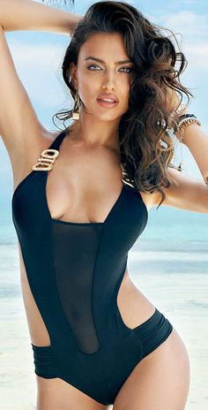 25 Hot Designer Bikinis and Swimsuits for 2014 - Style Estate - Beach Bunny 2014 Black Beauty Cutout Swimsuit