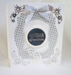 Pick of the Day new release - Deco trellis base die - thinking of you card from Edna Sympathy Cards, Greeting Cards, Tonic Cards, Studio Cards, Card Companies, Craft Tutorials, Anniversary Cards, Making Ideas, Wedding Cards