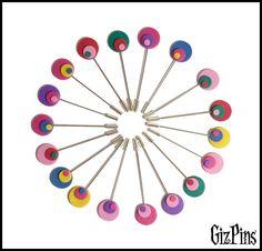 "Alfileres de novia ""Pop"". Solicita tu catálogo con toda la info a gizpins@hotmail.com También en http://www.gizpins.es"