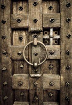 wood and steel door