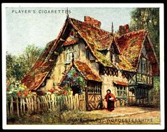 Cigarette Card - Ombersley, Worcestershire by cigcardpix, via Flickr