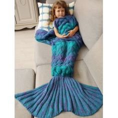 SHARE & Get it FREE | Warmth Knitted Fish Scales Mermaid Blanket For KidsFor Fashion Lovers only:80,000+ Items • FREE SHIPPING Join Twinkledeals: Get YOUR $50 NOW!