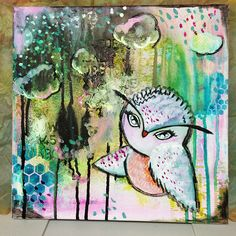 How to Make a Mixed Media Owl Canvas | Step-by-Step Tutorial