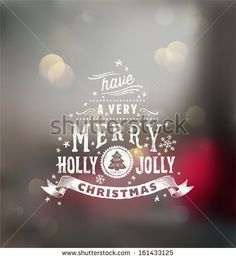 Christmas typography, handwriting  by blinkblink, via ShutterStock