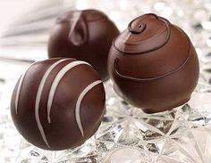 Trufas de chocolate y pisco