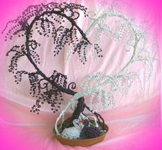 inspiration Wire Art Sculpture, Tree Sculpture, Beaded Flowers, Paper Flowers, Heart Tree, Wire Trees, Jewelry Tree, Wire Crafts, Beading Projects