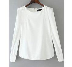 Blusa blanca de manga larga