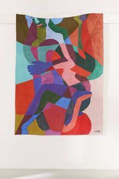Shop Ines Longevial Abstract Art Tapestry at Urban Outfitters today. We carry all the latest styles, colors and brands for you to choose from right here. Colorful Tapestry, Bad Art, Magic City, Art Abstrait, French Art, Canvas Material, Decoration, Art Inspo, Fiber Art