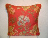 Floral Jacquard Pillow with Cording Traditional Pillows, Decorative Pillows, Coral, Throw Pillows, Trending Outfits, Unique Jewelry, Handmade Gifts, Inspire, Artists