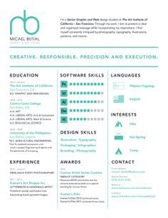 » SELF PROMOTION – Résumé by Micael Butial, via Behance
