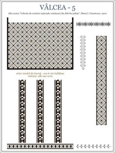Semne Cusute: iie din Valcea, OLTENIA Folk Embroidery, Embroidery Patterns, Cross Stitch Patterns, Palestinian Embroidery, Hama Beads, Beading Patterns, Romania, Pixel Art, Decorative Items