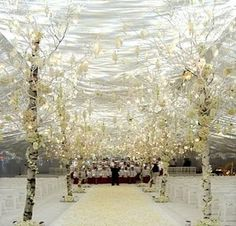 #Winter #wonderland #decor If we have a winter wedding you can bet we'll have something like this at our small (very, very small) reception