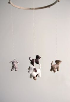 Baby crib mobile  dogs mobile  FLYING PUPPIES baby by Patricija, $106.00