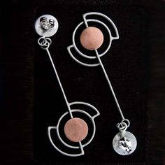 Zoe Earrings - Sterling Silver and Copper Posts. <3