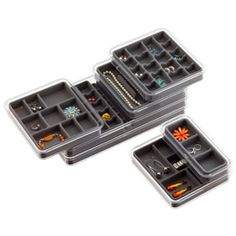 Grey Stacking Jewelry Tray System