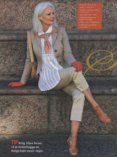 Grethe Kaspersen...great sense of style! You don't have to dress matronly!!! http://www.noellesnakedtruth.com/