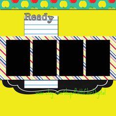 School Ready Elementary Grade School Digital by PattiChicDigitals (premade 12x12 scrapbook page layout idea)