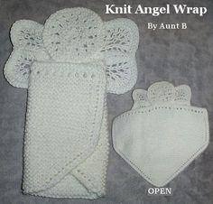 Aunt B's Knit Angel Wrap