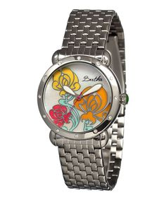 Look at this Stainless Steel Josephine Mother-of-Pearl Bracelet Watch on #zulily today!