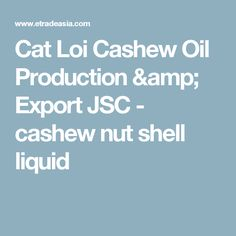 Cat Loi Cashew Oil Production & Export JSC - cashew nut shell liquid