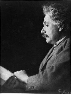Einstein reads.  Ah!  One of my favorite persons of all time.