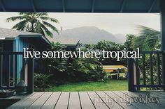 Bucket list: Live somewhere tropical