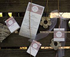 """Hochzeitstischkarten und Menükarten """"Emblem"""""""