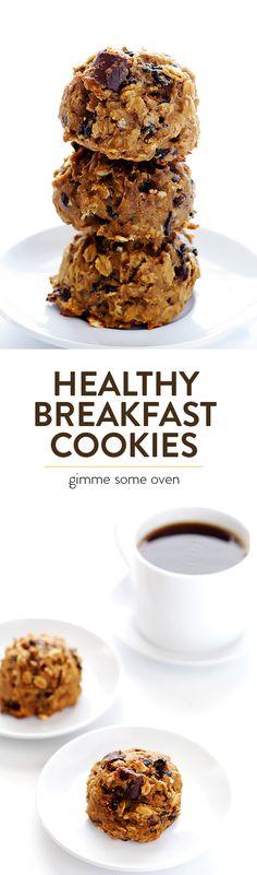 Healthy Breakfast Cookies //sphmndrl