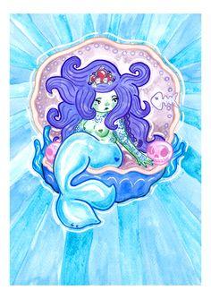 Alternative tattooed mermaid illustration by arkolina