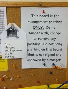This was approved by a manger. hilarious! So glad I don't have to deal with stupid passive-aggressive office notes