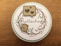 Hallöchen Vintage Scrapbook, Scrapbook Embellishments, Stamping Up, Greeting Cards Handmade, Homemade Cards, Diy For Kids, Paper Flowers, Thank You Cards, Paper Art