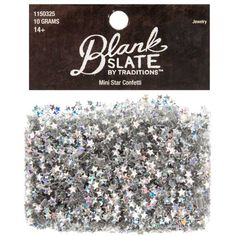 Silver Mini Star Confetti - Hobby Lobby also has star sequins, which would be another option