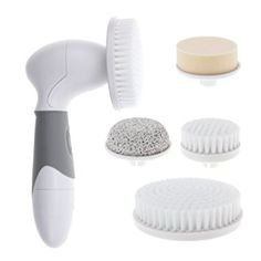 About the product      4-IN-1 DESIGN: Wemelody's intuitive 4-in-1 design of this skin cleansing system offers a big brush is great for exfoliating and cleaning hand and body skin, a smaller brush is more suitable for the sensitive skin on the face, a pumice stone meant to polish and remove rough skin under the foot or elbow, and face sponge meant to moisturize the face.     QUALITY DESIGN AND WATERPROOF: A high quality design and waterproof construction makes this facial pore cleaner ideal…