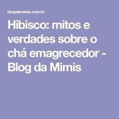 Hibisco: mitos e verdades sobre o chá emagrecedor - Blog da Mimis